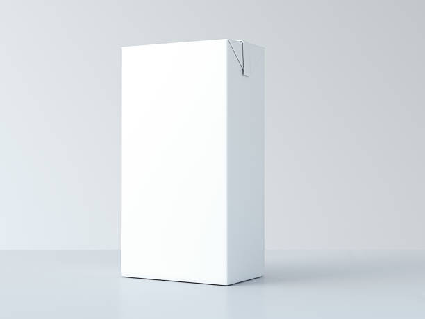 White milk package. 3d rendering - Photo