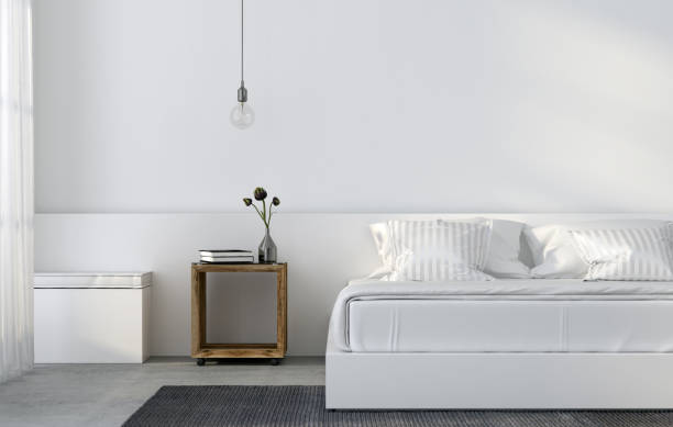 White minimalistic bedroom
