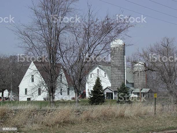 White Minnesota Barn