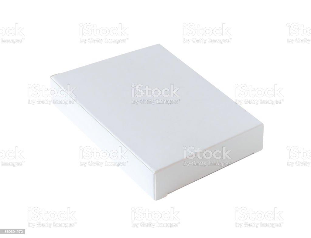 Mock-up Kasten isoliert auf weißem Hintergrund weiss – Foto