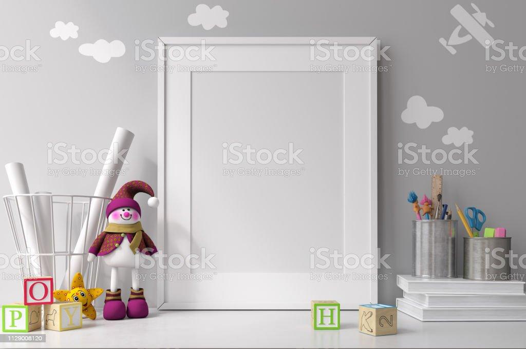 White mockup frame White mockup frame Apartment Stock Photo