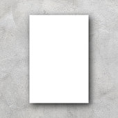 istock white mockup poster billboard on retro grey color cement background for design for presentation content on display concept 1182274651