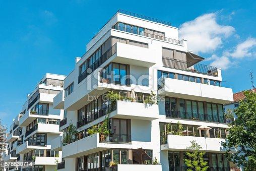istock White modern apartment house 578830714
