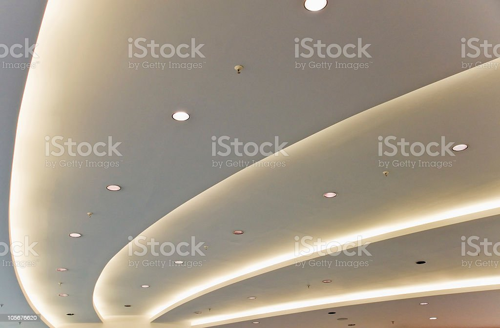 White modern ceiling royalty-free stock photo