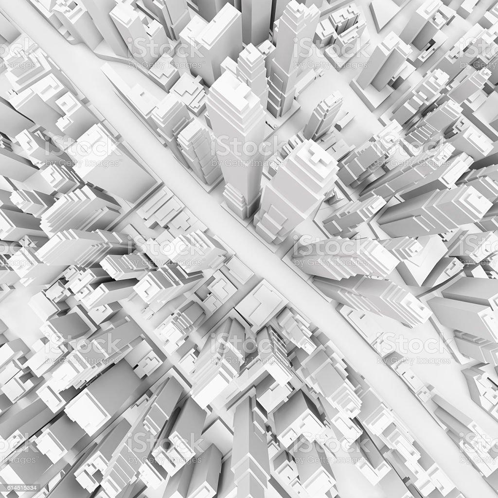 White modern city foto