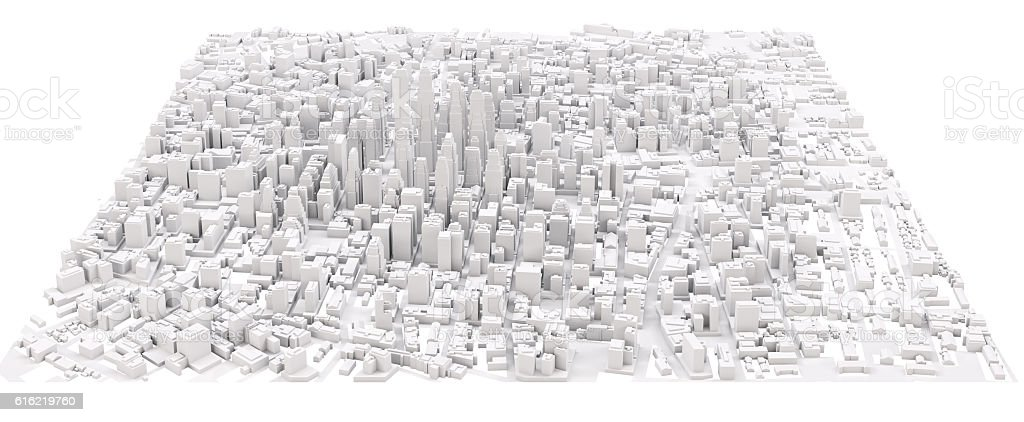 White modern city stock photo