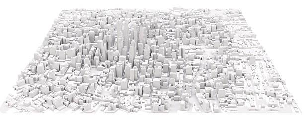 White modern city ストックフォト