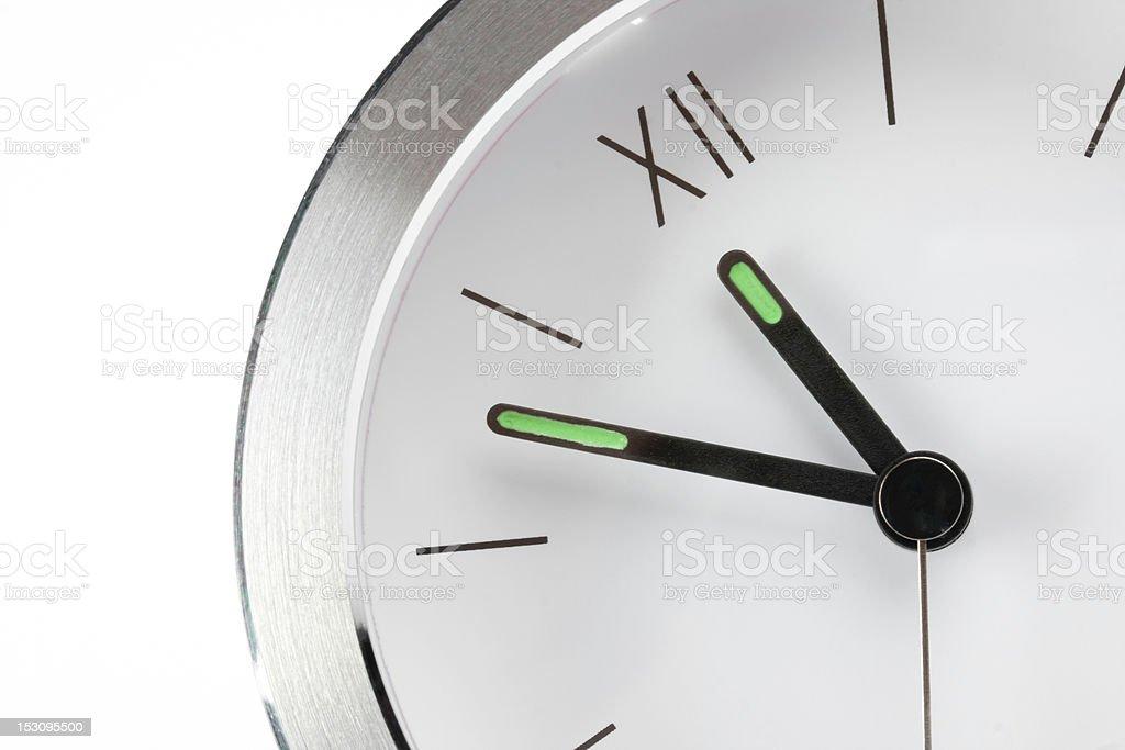 white modern clock royalty-free stock photo