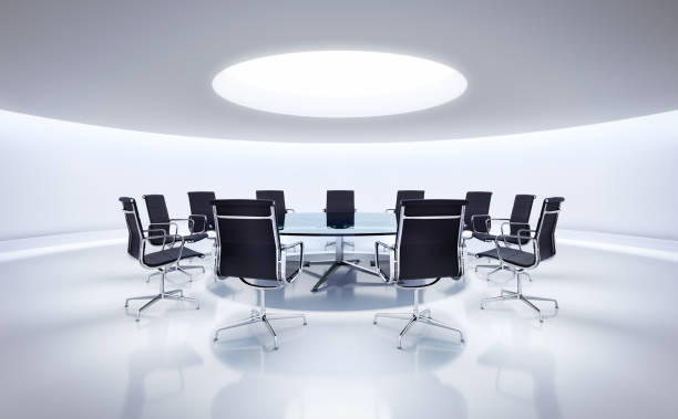 White modern conference room stock photo