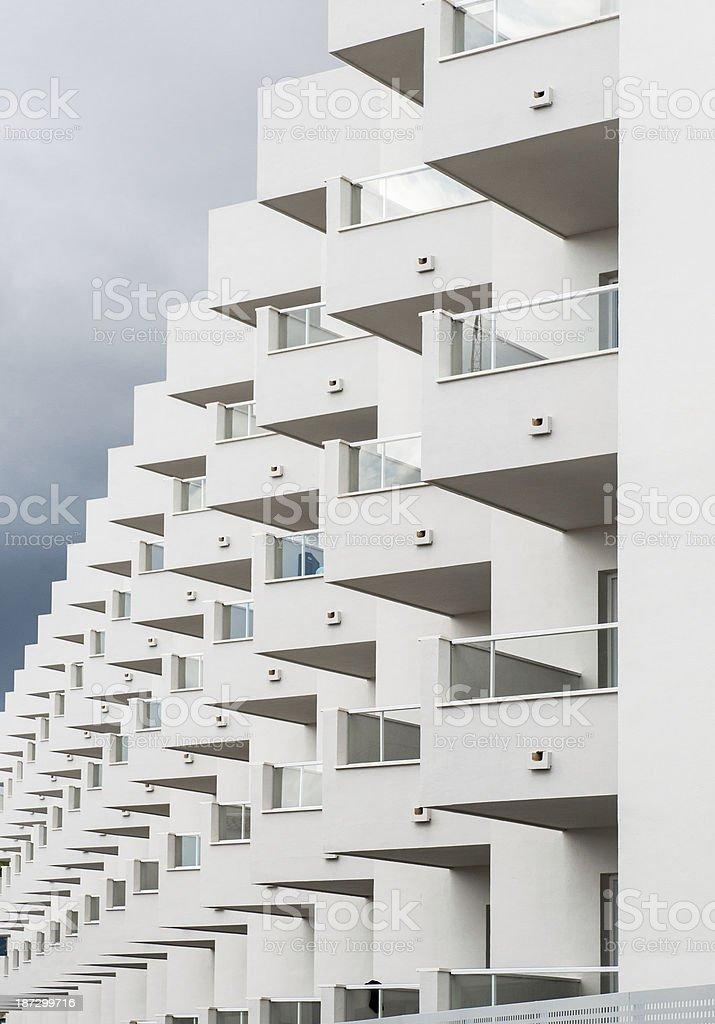 White modern house royalty-free stock photo