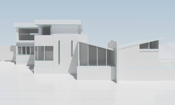 white modern house without textures stock photo