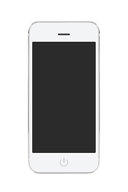 Blanc moderne mobile téléphone intelligent avec écran vide - Photo