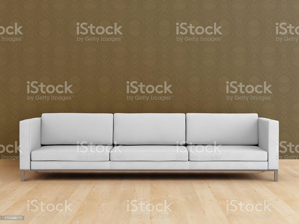 White modern sofa (XXL) royalty-free stock photo