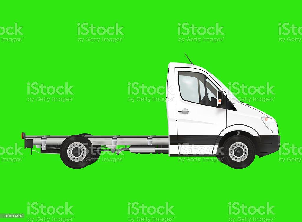 White modern van stock photo