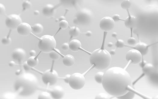 White Molecule Or Atom - zdjęcia stockowe i więcej obrazów Abstrakcja