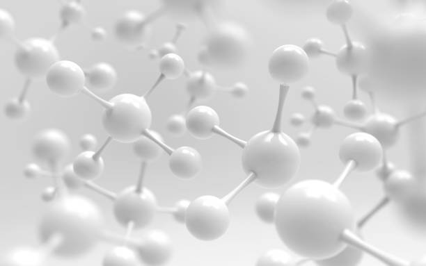 white molecule or atom stock photo