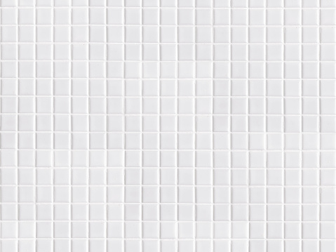 white geometric little tile square shape seamless pattern for bathroom. simple modern tiny bright light tile mosaic wallpaper decoration for kitchen or top counter interior design or architecture