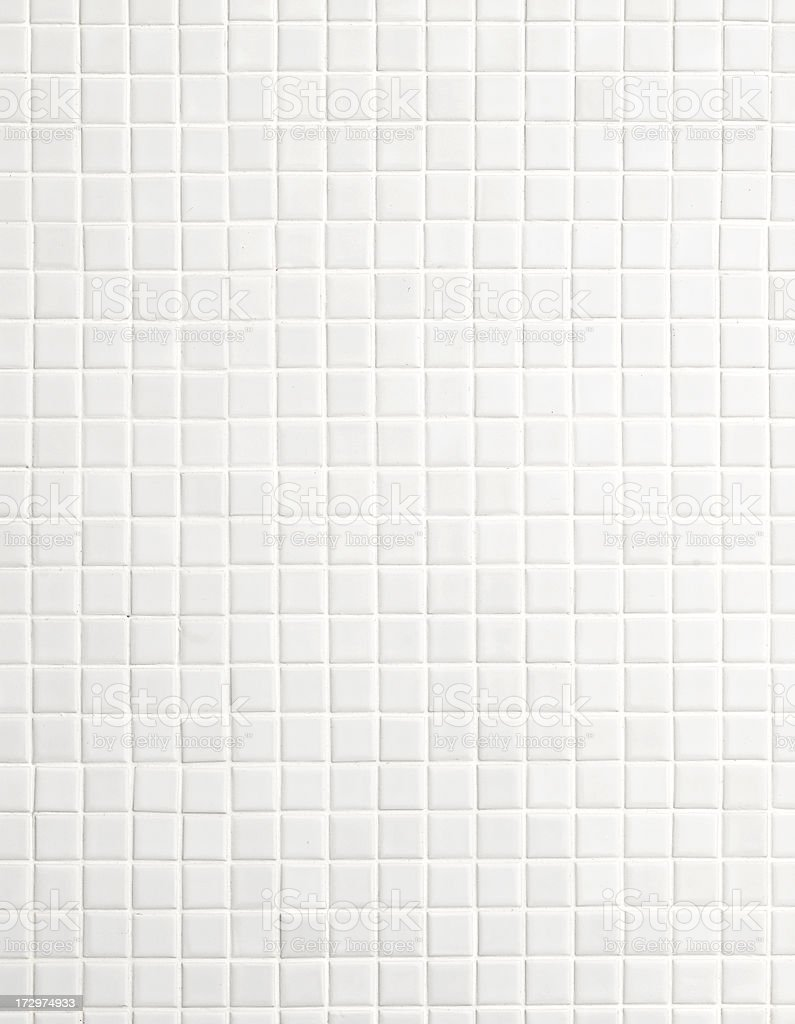 white mosaic tiles stock photo