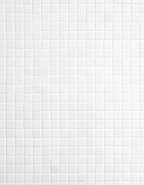 Weiße Mosaik-Fliesen – Foto