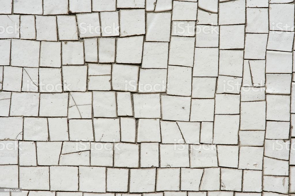 White mosaics royalty-free stock photo