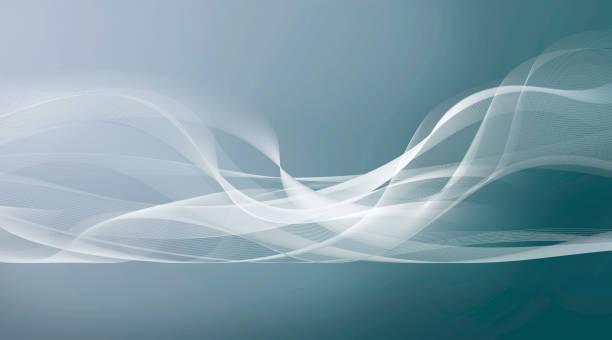 weiße Bewegung Linien auf hellblauem Hintergrund grau – Foto