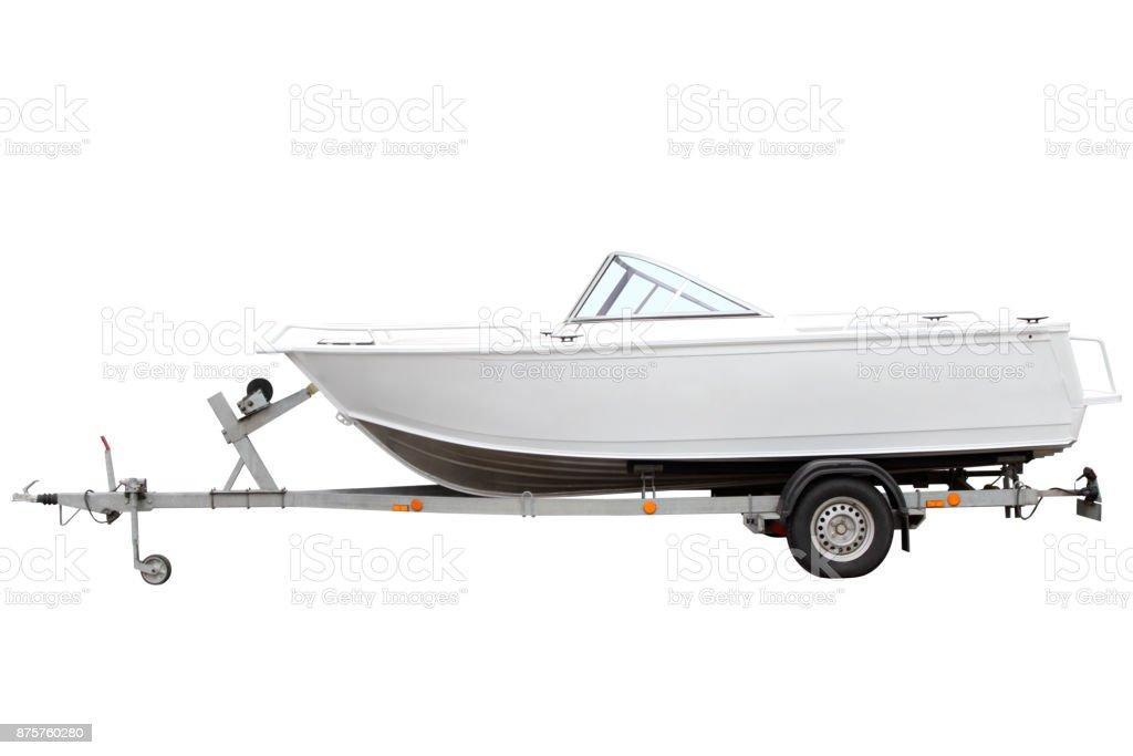 White motor boat. - foto stock