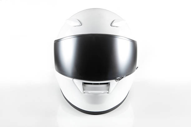 white motorcycle helmet - motorsport stock photos and pictures