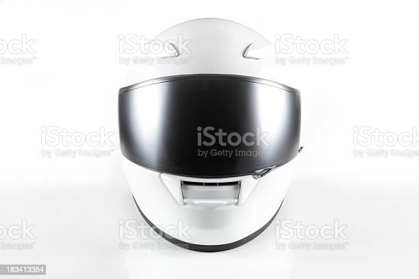 white helmet on white background.