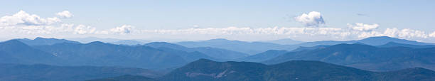 """White Mountains of New Hampshire """"Panoramic view from Mount Washington, New Hampshire."""" white mountains new hampshire stock pictures, royalty-free photos & images"""