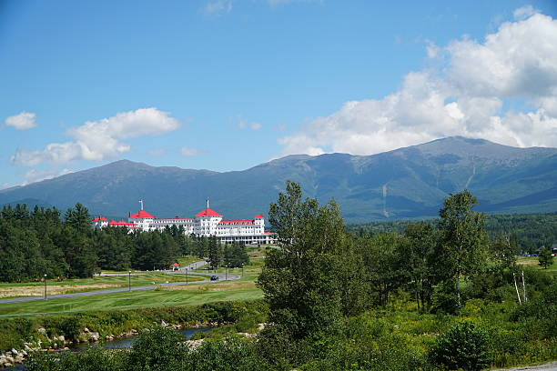 White Mountains with Mount Washington White Mountains with Mount Washington white mountains new hampshire stock pictures, royalty-free photos & images