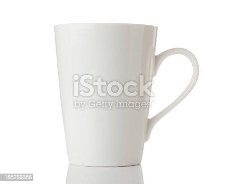 White mug isolated on a white background.