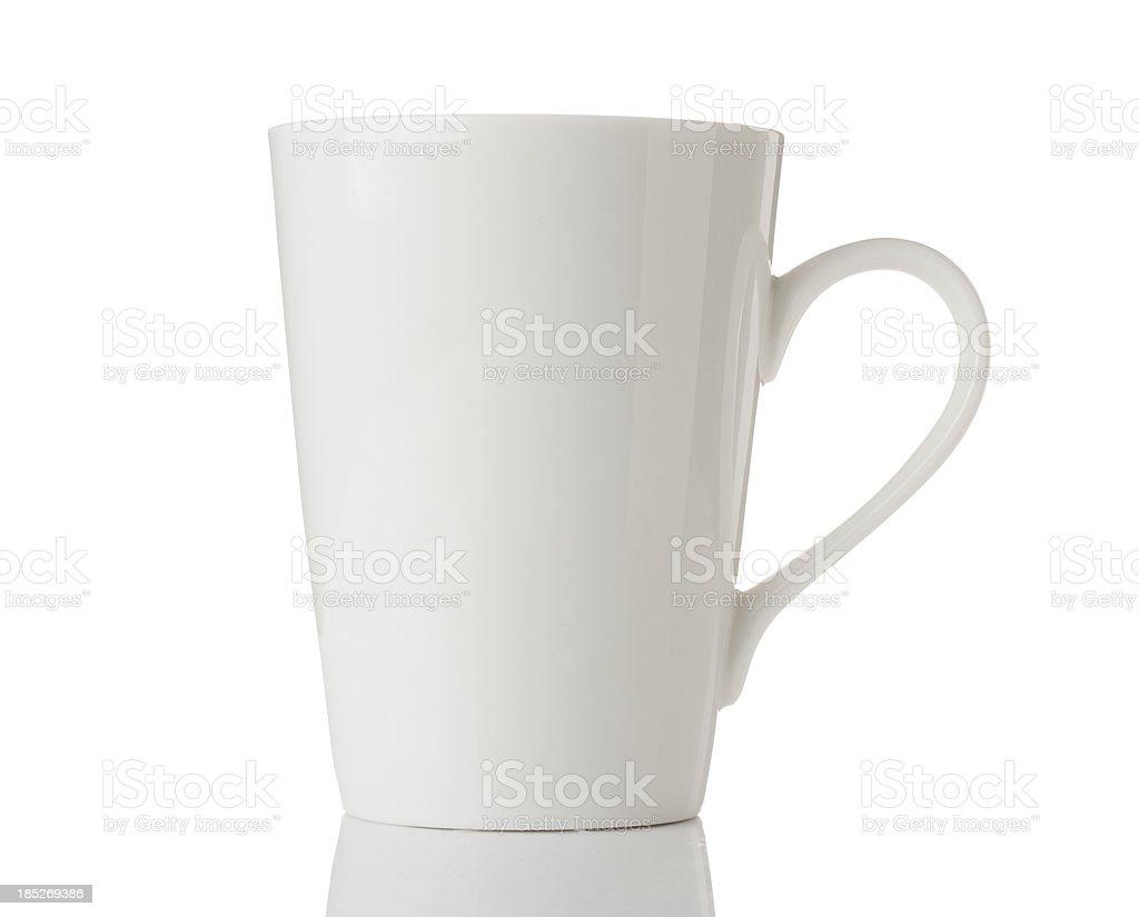 White mug isolated on a white background stock photo