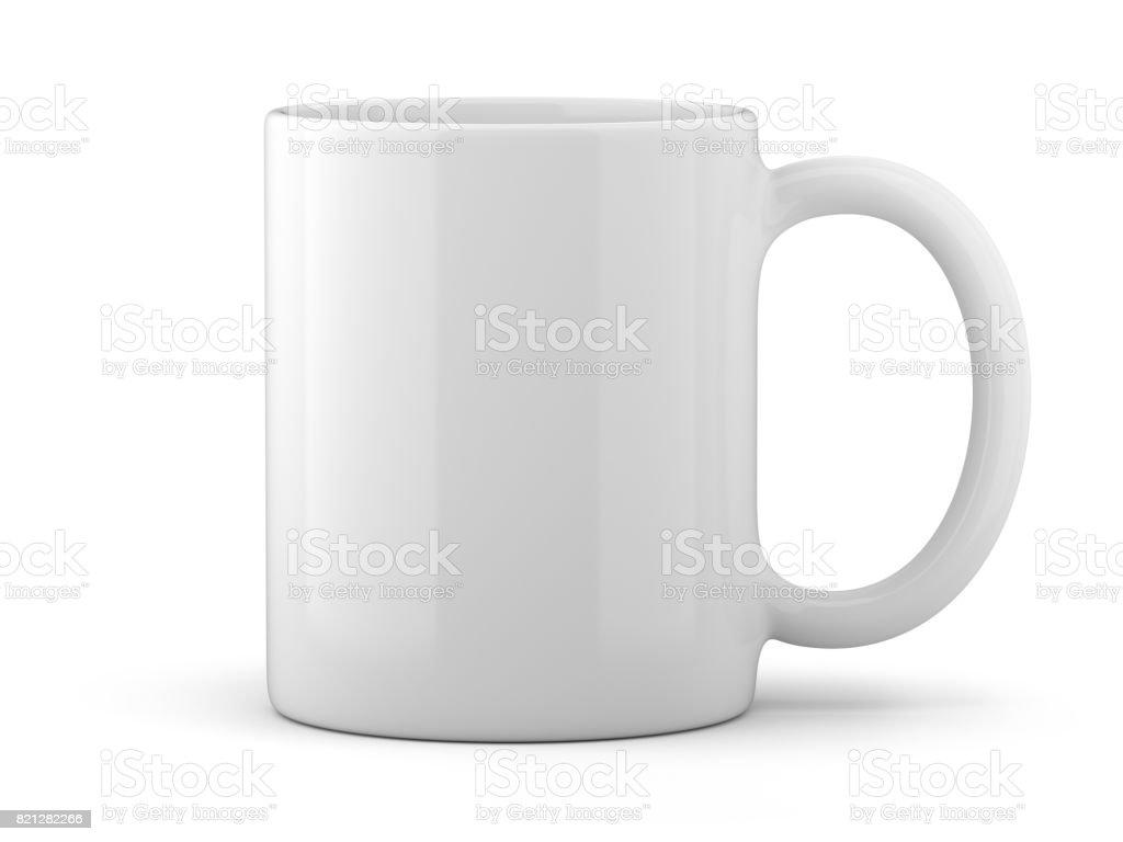White Mug Isolated royalty-free stock photo