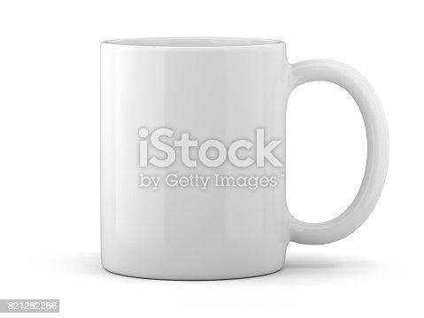 istock White Mug Isolated 821282266
