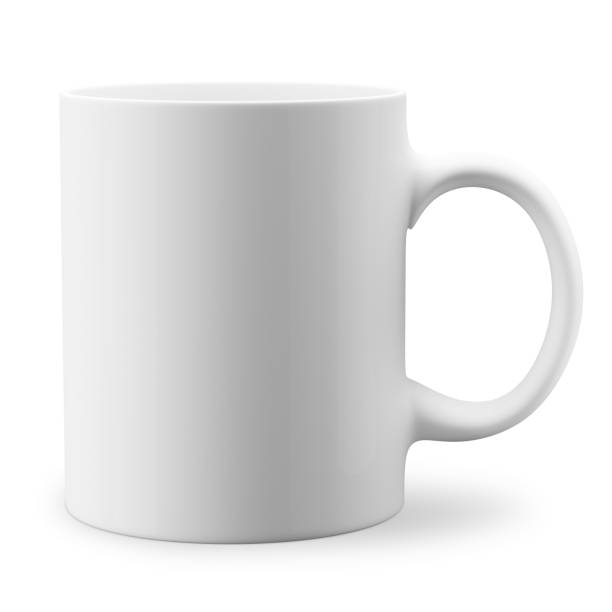 White mug stock photo