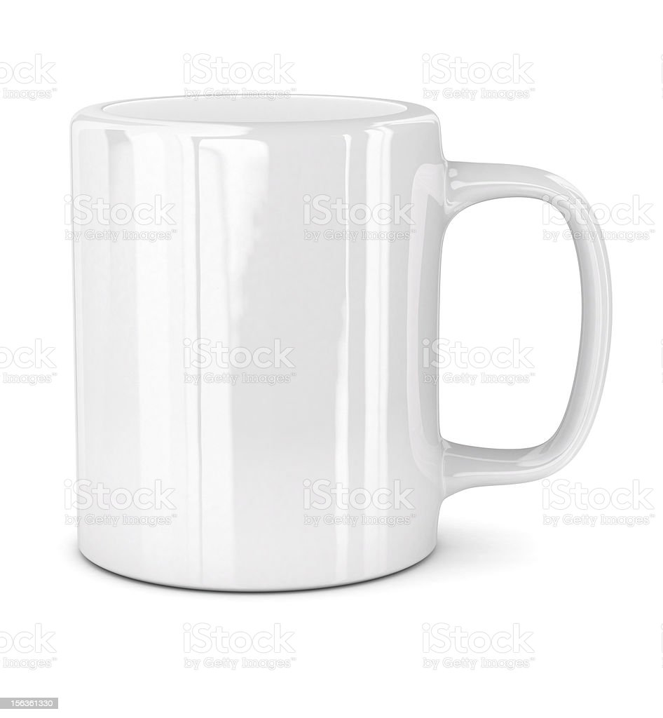 White mug royalty-free stock photo