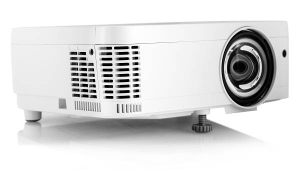 white multimedia projector isolated on white - projection equipment stock pictures, royalty-free photos & images