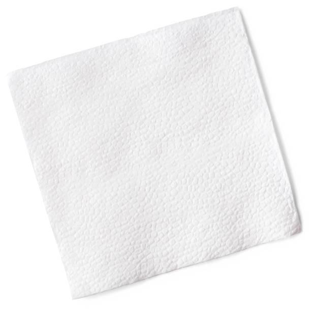 vita servetter, urklippsbana, isolerad på vit bakgrund, hög kvalitet foto - servett bildbanksfoton och bilder