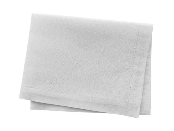 White napkin isolated on white stock photo