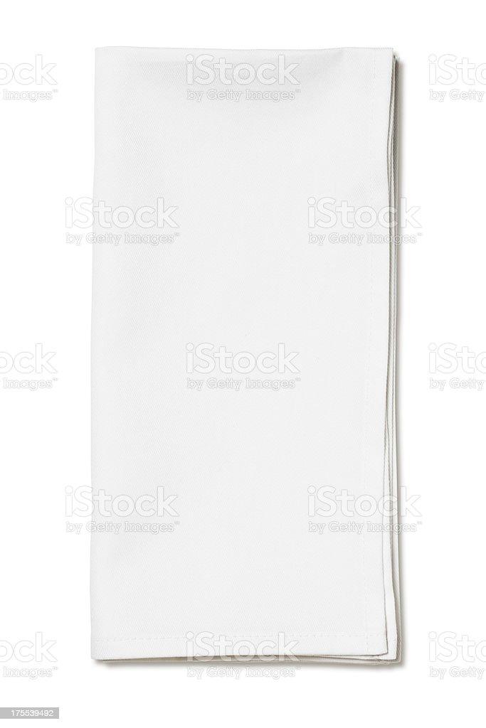 White napkin royalty-free stock photo