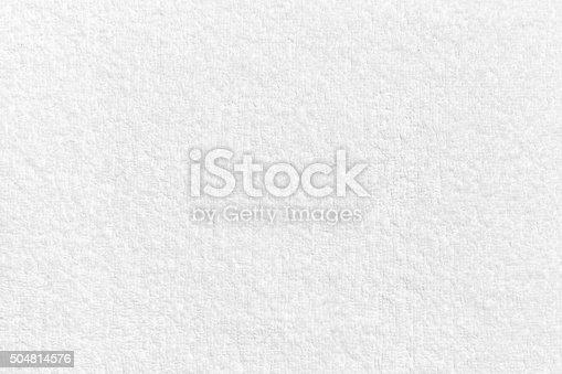 1151113068 istock photo White natural cotton towel  background texture 504814576