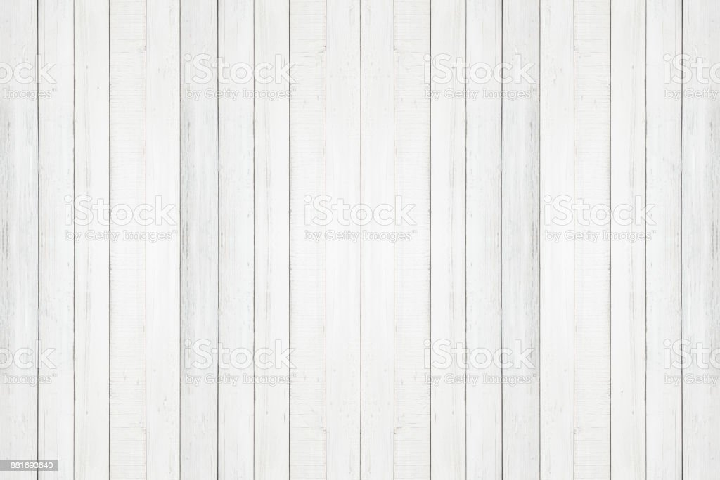white natural wood wall texture and background seamless,Empty surface white wooden for design stock photo