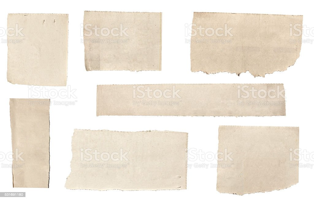 white news paper ripped message background