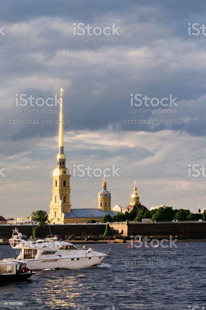White nights in St. Petersburg stock photo