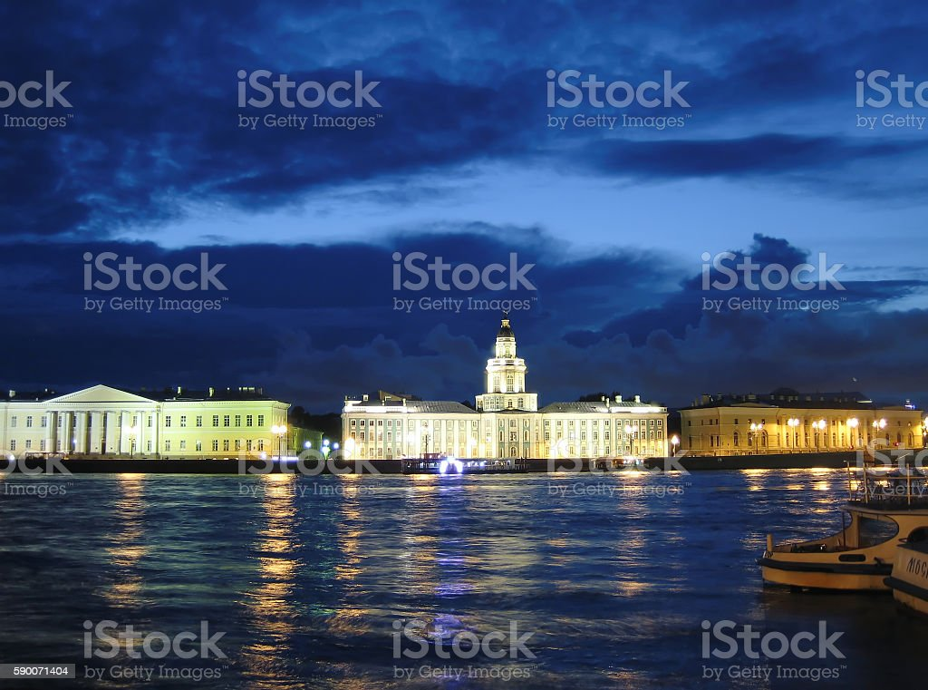 White nights, Russia stock photo