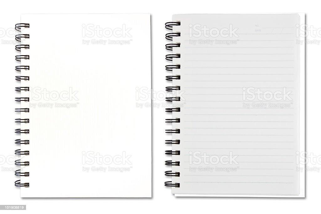 White Note Book stock photo