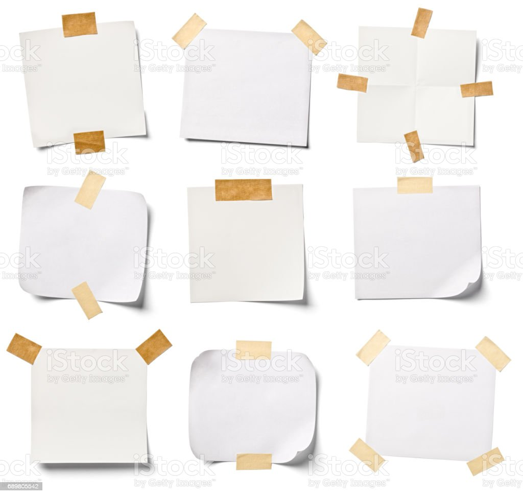 white note paper office business - foto stock