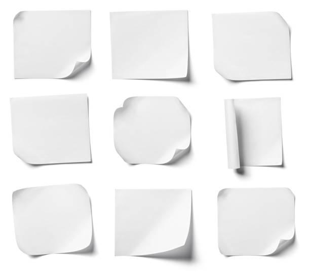 Weißen Hinweis Papier Büro Geschäft – Foto