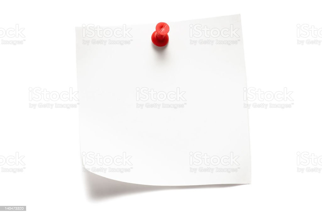 White Note stock photo