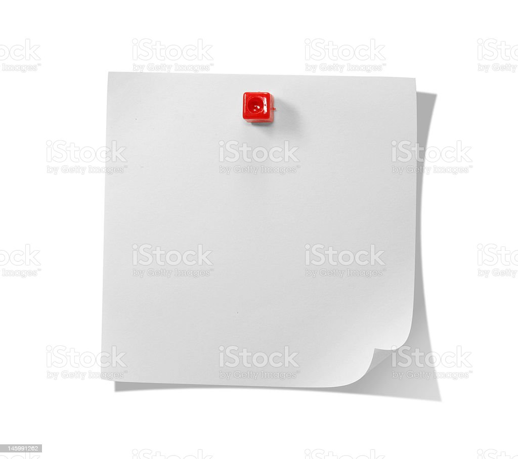 White note royalty-free stock photo